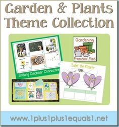 printables, books, and ideas from & Plants Theme Collection.printables, books, and ideas from Preschool Garden, Preschool Themes, Preschool Science, Montessori Science, Plant Science, Spring Theme, Letter A Crafts, Garden Theme, Garden Plants