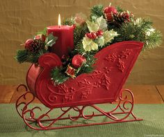 Santa Sleigh Centerpiece by Park Designs at The Country Porch