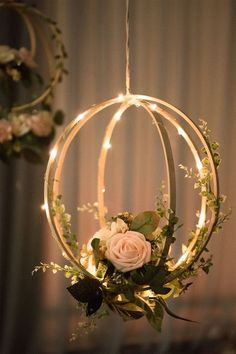 Blush Pink Floral Hoop Wreaths (Set of Unique Design: Handcrafted with blush and ivory open roses, rose buds, greeneries and vines on a bentwood spheres and a orbit hoop. They look realistic and will last forever. Package & Size: Set of 2 floral hoop wr Dream Wedding, Wedding Day, Wedding Ceremony, Garden Wedding, Ceremony Backdrop, Wedding Blush, Wedding Hacks, Perfect Wedding, Wedding Table