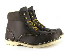 Brooklyn Boot (Brown)  from Vegetarian Shoes. These would look great accessorised with red laces