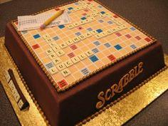 Amazing scrabble cake.