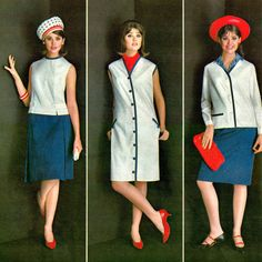"""vintagefashionandbeauty: """" Colleen Corby featured in Seventeen, April 1965…"""