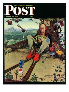"""April Fool, 1945"" Saturday Evening Post Cover, March 31,1945  Norman Rockwell"