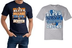 "$14 for a XXL ""I Bleed""  Pro Football T-Shirt - Shipping Included"