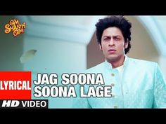 """Presenting the lyrical video of the song """"Jag Soona Soona Lage"""" from the Bollywood movie Om Shanti Om. The movie features Shahrukh Khan, Deepika Padukone in . 6 Music, Music Songs, Song Download Sites, Hindi Bollywood Songs, Rahat Fateh Ali Khan, Hide Video, Youtube Songs, Om Shanti Om, Lead Role"""