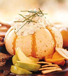 party dip in a pumpkin or squash