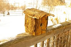 Birdhouse out of old barn wood