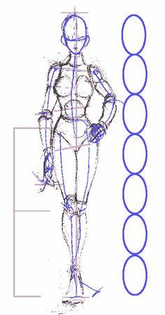 La figura femenina | Dibujando Human Anatomy Drawing, Human Figure Drawing, Figure Sketching, Sculpture Techniques, Drawing Techniques, Dark Art Drawings, Art Drawings Sketches, Drawing Body Proportions, Drawing Cartoon Faces