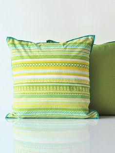 Valli Lime Cotton Cushion Cover | Freedom Tree