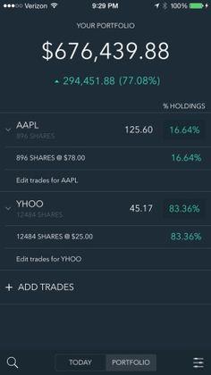 Portfolio: Stock Tracker and Brokerage Companion Screenshots