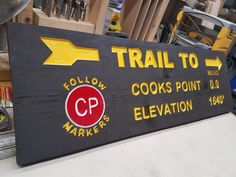 A personalized cedar trailhead sign to create a warm welcome to an Adirondack Log Cabin!