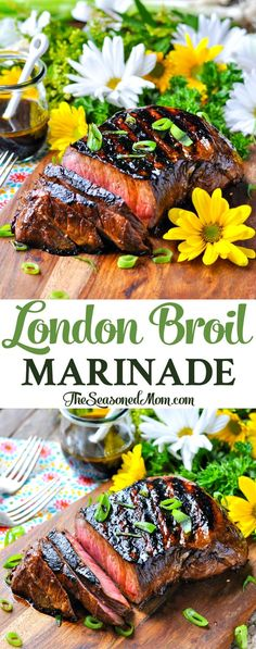 London Broil Marinade for the Grill or Oven! Grilling Recipes, Meat Recipes, Cooking Recipes, Sirloin Recipes, Beef Sirloin, Beef Welington, Beef Meals, Kabob Recipes, Fondue Recipes