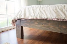 You can build a bed frame that also saves you money. And we have a bunch of DIY bed frame tutorials to prove it. Furniture Projects, Home Projects, Diy Furniture, Home Bedroom, Bedroom Decor, Bedrooms, Murphy-bett Ikea, Do It Yourself Baby, Diy Bett