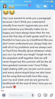 Ideas for bff birthday captions funny Best Friend Texts, Happy Birthday Best Friend Quotes, Best Friend Messages, Best Friend Birthday Letter, Male Best Friend Quotes, Dear Best Friend Letters, Msg For Best Friend, Happy Birthday Paragraph, Birthday Quotes Bff