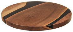 Amish Artistic Walnut Lazy Susan Epoxy Dark Night Rich, exotic shades are showcased in this stunning Lazy Susan that combines solid walnut and epoxy. Makes a unique gift. Handcrafted in Amish country. #LazySusan #kitchenaccessories #gifts