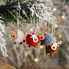 Wooden Christmas Tree Decorations, Unique Christmas Trees, Christmas Tree Toy, Christmas Ornaments, Reindeer Ornaments, Rustic Christmas, Handmade Decorations, Holiday Decorations, Christmas Holiday