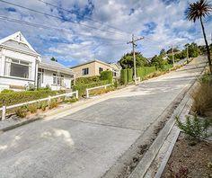 World's Strangest Streets: Baldwin Street, Dunedin, New Zealand - World's Steepest Street, 35% grade