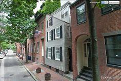 """Fayette street, Bay Village, Boston.  42°20'56.07""""N 71° 4'3.03""""W"""