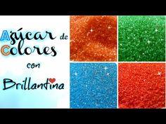DIY AZUCAR DE COLORES CON BRILLANTINA / SUGAR COLORS GLITTER| Cakemol - YouTube Cupcake Cakes, Cupcakes, Cookie Icing, Sweet Cakes, Sprinkles, Frosting, Fondant, Diy, Youtube