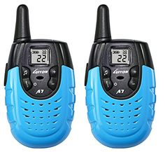 Kids' Walkie Talkies - LUITON A7 Mini Durable Walkie Talkie Toy Gift for kids Long Distance TwoWay Ham Radio with Rechargable Lithium Battery Interphone for Outdoor Activities BluePair >>> Check this awesome product by going to the link at the image.