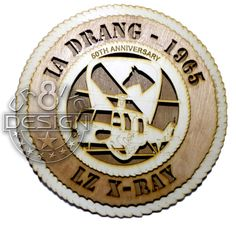 "Ia Drang LZ X-RAY 1965 1ST Cav Div Wood Laser Cut plaque 10.5"" Army,Vietnam War UH-1 Huey by Cr8ivelyDesigned on Etsy"