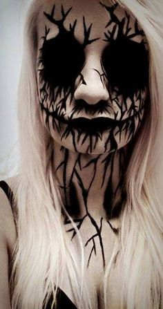 Demonic Make-up idea paired with all-black sclera contacts  for the ultimate hollow eyes effect => http://www.pinterest.com/pin/350717889705707881/