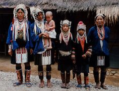 indigenous people of thailand   Akha Tribal Family in Northern Thailand