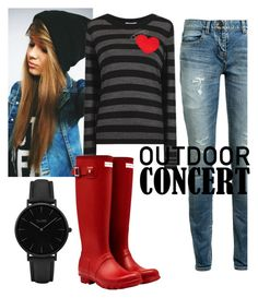 """""""Night Time #60secondstyle #outdoorconcerts"""" by landi-ruthven on Polyvore featuring Yves Saint Laurent, Sonia by Sonia Rykiel, Hunter, CLUSE, 60secondstyle and outdoorconcerts"""