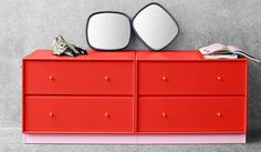 montana.dk Montana Furniture, Danishes, Cabinets, Dresser, Coral, Bedroom, Decoration, Interior, Red