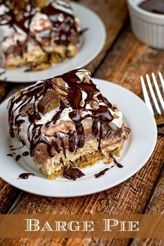 Barge Pie - yowza, this looks good! And it's no bake!