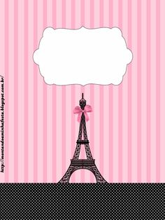 Paris: Free Printable Candy Bar Labels.