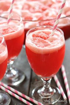 Party Raspberry Punch~Pour a 2 Liter Diet Ginger-ale, into a gallon of Red Hawaiian Punch, then scoop a 1/2 gallon of Raspberry Sherbet on top.~very good!