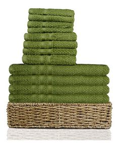 Look at this #zulilyfind! Moss Towel Set by Alok #zulilyfinds