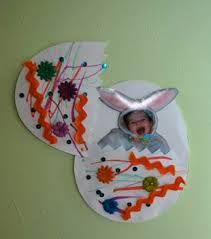 Fun Easter Crafts For Toddlers Im Not Sure Why Its A Bunny Coming Out Of The Egg But This Looks Great Might Change It To Chicken Cards From