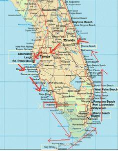 Printable Map Of Florida State.Large Print Map Of Florida World Map North America Usa Florida