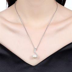 Aliexpress.com: Comprar 18 K Color Rosa En Oro Perla Colgante Collar de Moda de Marca para Las Mujeres Del Partido Accesorios Envío Gratis de brand jewelry fiable proveedores en Greatbuy21 Store