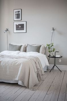 Home grey bedroom walls, bedroom wall lights, soft grey bedroom, bedroom . Soft Grey Bedroom, Trendy Bedroom, Modern Bedroom, White Bedroom, Bedroom Wall, Bedroom Furniture, Bedroom Decor, Bedroom Ideas, Bedroom Designs