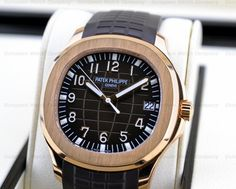 European Watch Company: Patek Philippe Large Aquanaut in 18K Rose Gold with a Brown Dial.....Brown Dials, Fashion or Here to Stay??