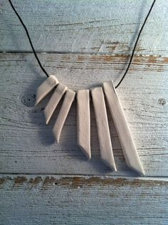 Modern Tribal Ceramic Necklace, Modern Jewelry, Fall Fashion, Ceramic Jewelry. $35.00, via Etsy.