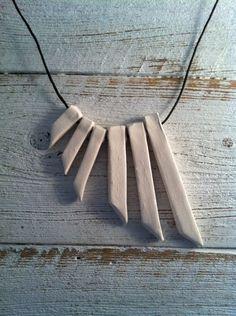 Modern Tribal Ceramic Necklace, Modern Jewelry, Fall Fashion, Ceramic Jewelry. $35.00, via Etsy.