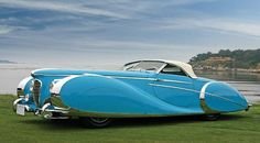 Delahaye Type 175. Blue skirts wow, we love this...you'll love these: http://www.youtube.com/watch?v=IqoXUcN2_nc