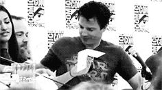 Mark Shepard and John Barrowman at Comicon. You're welcome.
