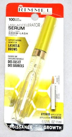 BrandNew Rimmel London Lash Accelerator Serum With Grow Complex #100 Clear. Supports Natural Growth For Lashes And Brows. Lots of makeup and personal care items. Only a few sets available and will go fast.