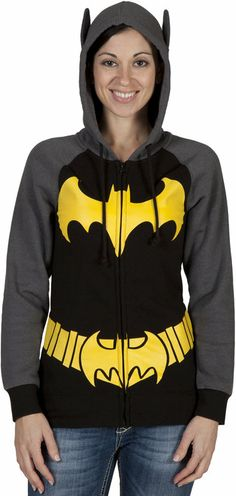 Batgirl Costume Hoodie. Is it crazy that I would wear this?