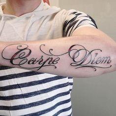 100 Creative Carpe Diem Tattoos & Meanings cool  Check more at http://fabulousdesign.net/carpe-diem-tattoos-meanings/