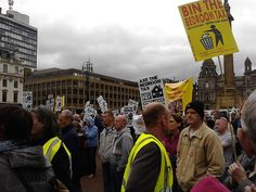 George Square (Glasgow) — National Anti-Bedroom Tax March and Rally.