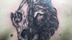 2 Face Wolf Tattoo