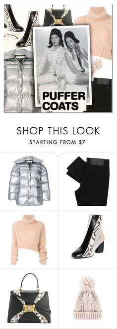 """""""Stay Warm: Puffer Coats II"""" by vampirella24 ❤ liked on Polyvore featuring Off-White, Cheap Monday, Ann Demeulemeester, Proenza Schouler and Gucci"""
