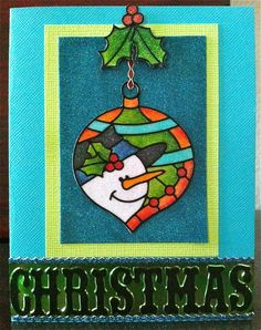 Elizabeth Craft Designs...use the idea of an ornament shape with another stamped design inside of it