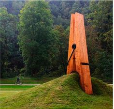 a giant clothes pin